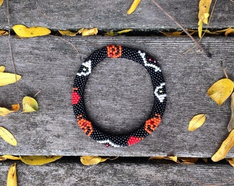 Halloween Bead Crochet Bracelet Pattern & Bead Kit Bead Crochet Pattern Bead Crochet