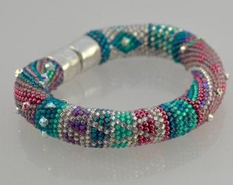 "Single Stitch Bead Crochet Bracelet Kit, ""Beginnings"" - Original Color Bead Kit"