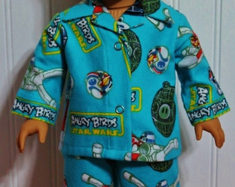 ANGRY BIRDS-Star Wars Flannel Pajamas fit 18inch Dolls - Proudly Made in America