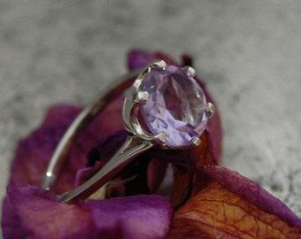 Nia - Rose de France Amethyst gemstone ring, February birthstone, engagement ring, promise ring, statement ring, for her, women, gift idea