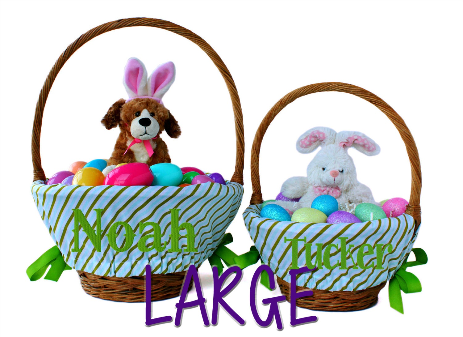 Large Oversized Personalized Easter Basket By Ourlittlemesses