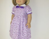American Girl, 18 Inch Doll Clothes, American Girl Doll Dress, Dolls, Girl Toys, Gifts for Girls, Peter Pan Collar, Pleats, Lavander, Kit,