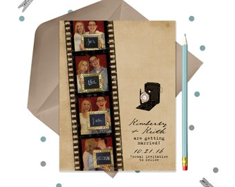 Film Strip Photo Booth Save the Date Cards or Magnets