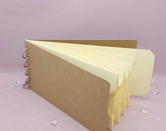 "Ivory, Pocket Tag, Chipboard Album, Size 8-1/4"" x 4-1/4"", Scrapbooking, Memory Keeping, Photo Album, Kraft Covers"