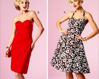 Strapless Evening Dress Pattern, Ladies Sundress Pattern, Dress by Gertie Pattern, Butterick Sewing Pattern 6019