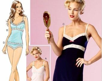 Ladies Lingerie Pattern, Full Slip Pattern, Camisole Pattern, Panties Pattern, Pattern by Gertie, Butterick Sewing Pattern 6031