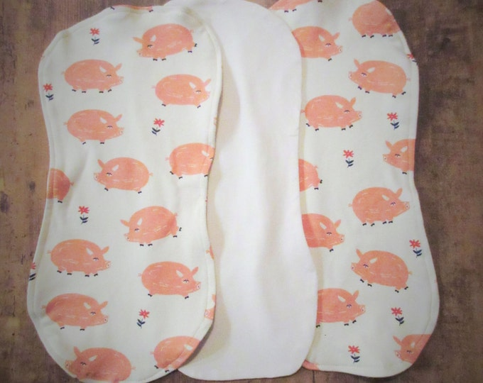 Piggy Organic Burp Cloth