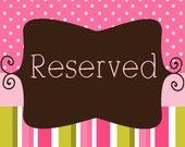 Reserved Listing for Jennas129