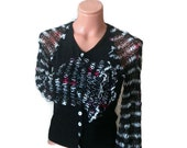 Womens clothing, Bell Sleeves  upcycled sweater,Bohemian Recycled Eco Friendly Clothing OOAK