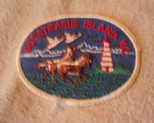 Vintage 1970s  Sew On Iron On Assateague Island Virginia Travel Patch
