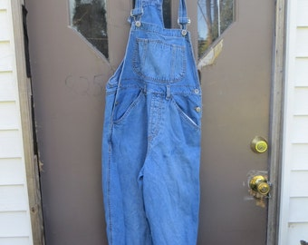 vtg  90s Rio  lifestyle Denim  Grunge Retro  cotton denim bib  Overalls Pants  sz  M