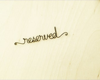Reserved for Cindy