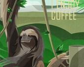 Sloth Enjoys Coffee
