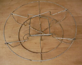 "Vintage Metal Wire Mason Jar Canning Rack Canner Jar Holder Lifter 12"" Diameter Country FARM Primitive"