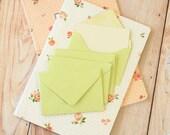 Bean Green Textured Mini Envelopes & Wheat Cream Cards 10pc set