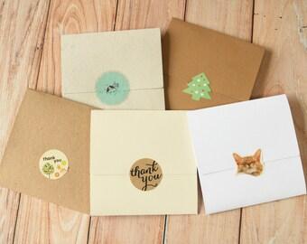 50pc set eco friendly diy NO Glue CD sleeve envelopes