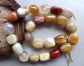 Destash set of semi precious stones autumn hues
