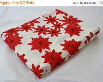 25 Off Sale WINTER'S LANE 3 yds poinsettias Moda modern quilt fabric Kate & Birdie Christmas red winter double border 3 full yards 13091-16