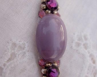 All Purple Bindi - swarovski crystal belly dance tribal bindi