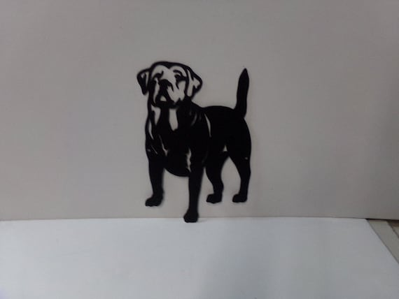 dog small metal wall art silhouette. Black Bedroom Furniture Sets. Home Design Ideas