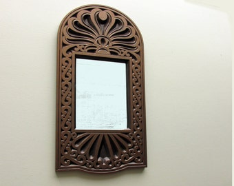 mid century mirror - ornate mirror - Moroccan  Charm - feng shui - moroccan - global chic