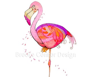 The Mauvelous Flamingo a pink bird from Florida