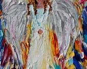 Reserved for Michelle Custom original oil painting Angel of Joy by Karen Tarlton - final payment