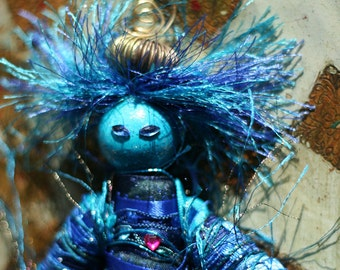 A'Zuri, Water Sprite, an elemental spirit art doll