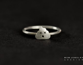 Sterling Silver Little Poop Ring