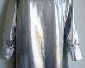 CARVEN 60s silver mini tunic dress