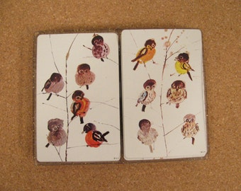 Playing Cards -Two Deck Set of Boxed by Stancraft and Featuring Perching Birds -- Like New Condition -