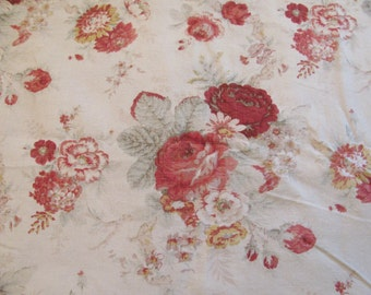 """Waverly Screen Print - """"Norfolk Rose"""" - 56"""" wide - Selling by the Yard"""