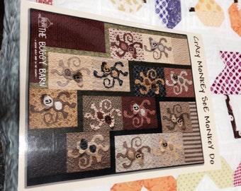 Buggy Barn Crazy Monkeys pattern kit of fabrics with binding & backing!