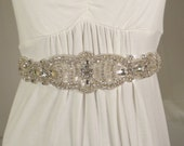 SALE! Crystal Wedding Belt, Bridal Sash, Bridal Belt, Crystal Sash, Wedding Sash, Rhinestone Bridal Sash
