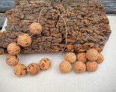 25pcs 28mm natural round cork beads, create organic jewelry for you, cork coaster with cork balls used for fishing floats, made in Portugal
