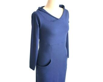 SALE Custom dress, Plus size custom dress, Hoodie dress with pockets, long sleeve dress, hooded dress, plus size clothing, Pockets dress