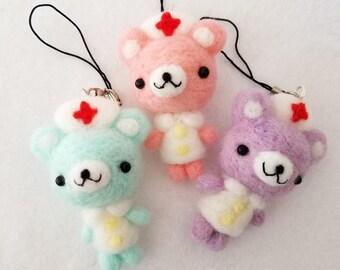 Nurse Bears Keychain Dolls, Gifts for Nurses, Cute Nurse Doll charm, Kawaii Nurse Doll, Nurse Bear Charms