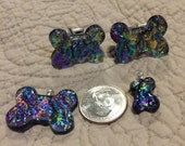 Dichroic Glass Dog Bone Set