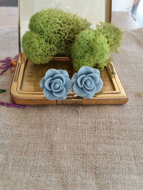 Flower Plugs, Wedding Gauges, Prom Gauges, Slate Blue, Roses