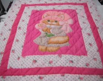 kitten baby quilt