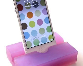 Amethyst Groove iPhone Stand- Modern Minimalism at its Best-Great On-The-Go Stand, Great Gift Idea, Doubles as a Business Card Holder!