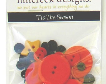 Complete Button Kit Tis the Season Button Pack from Hillcreek Designs BBOM2016-QDD