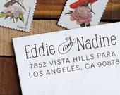 Custom Address Stamp, Return Address Stamp, Wedding address stamp, Eco Mount Address Stamp  - Nadine