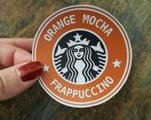 Orange Mocha Frappuccino - Handmade Small Magnet - Original Art Zoolander
