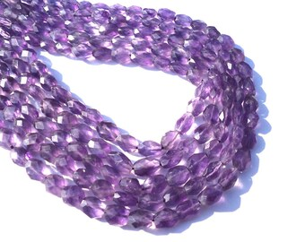On Sale African Amethyst Faceted Oval 36 cm long strings AMET-002