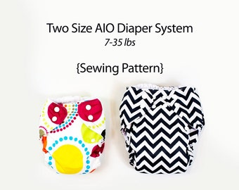 AIO Cloth Diaper Pattern | 2 Size System