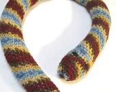 Crochet Snake Toy Door Draft Stopper Multicolor Striped Snake, Crocheted Snake Toy, Stuffed Snake by CrochetedbyCharlene