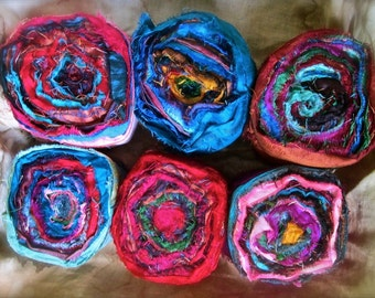 Extra Wide Persian Bazaar Recycled Sari Silk Ribbon 5 - 10 - 20/35 Yards Wide Ribbon for Crafts Jewelry Boho Shabby Chic
