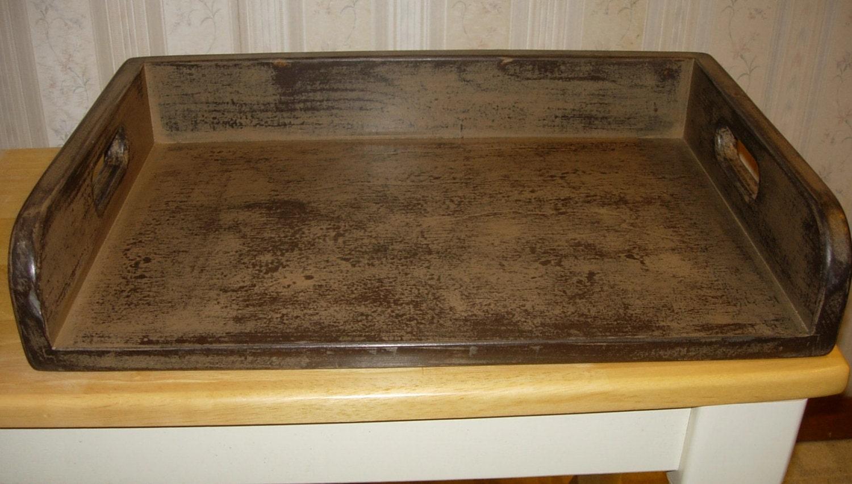 Primitive Serving Tray Mini Noodle Board Ottoman Tray