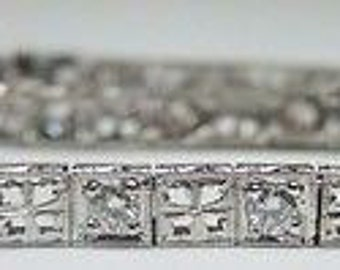 Antique Diamond Platinum Art Deco Bracelet